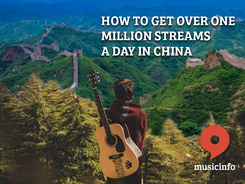 Over one million streams a day in China with musicinfo